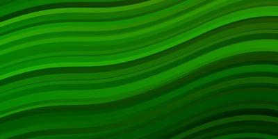 Light Green vector pattern with curves.