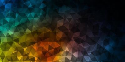 patrón de vector azul claro, rojo con estilo poligonal.