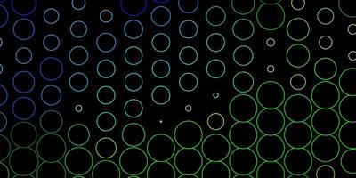 Dark Blue, Green vector pattern with spheres.