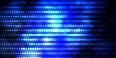 textura de vector azul oscuro con círculos.