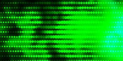 patrón de vector azul claro, verde con círculos.