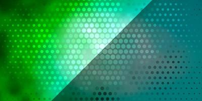 Light Blue, Green vector pattern with circles.