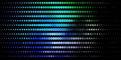 diseño de vector azul oscuro, verde con formas circulares.