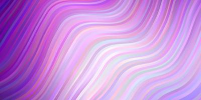 Light Purple vector background with curves.