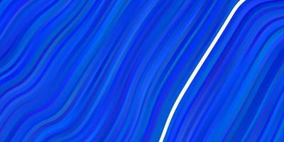 textura de vector azul claro con curvas.