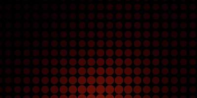 Dark Red vector background with bubbles.
