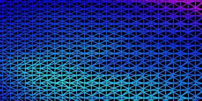 Light pink, blue vector triangle mosaic background.