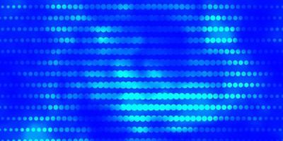 Light BLUE vector background with circles.