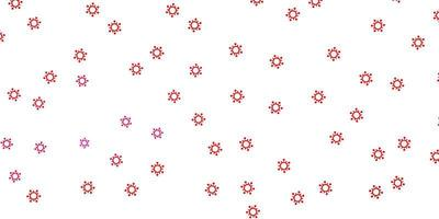 Light pink, red vector backdrop with virus symbols.
