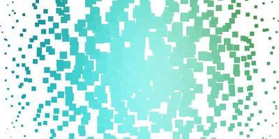textura de vector azul claro, verde en estilo rectangular.