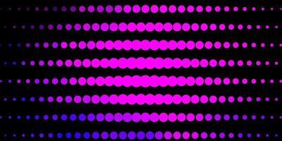 diseño de vector rosa claro, azul con círculos.