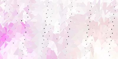 Light pink vector gradient polygon design.