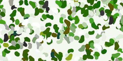telón de fondo de vector verde claro con formas caóticas.