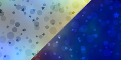 Vector background with circles, stars.