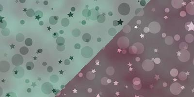 Vector backdrop with circles, stars.