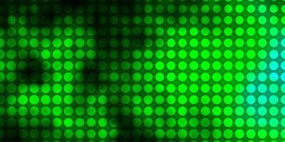 textura de vector azul claro, verde con círculos.