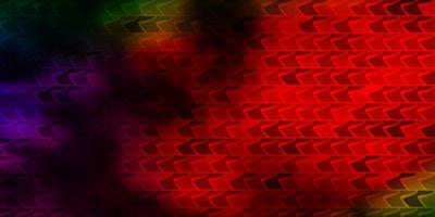 Fondo de vector multicolor oscuro en estilo poligonal.