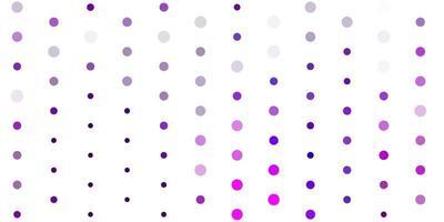 telón de fondo de vector rosa claro con puntos.