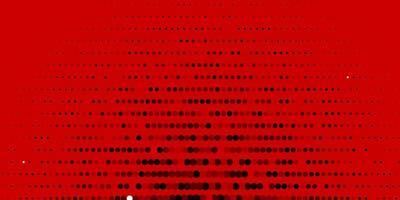 Fondo de vector rojo oscuro con burbujas.