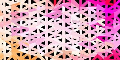 Light pink vector abstract triangle pattern.