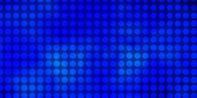 plantilla de vector azul oscuro con círculos.