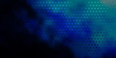 Dark BLUE vector texture with disks.