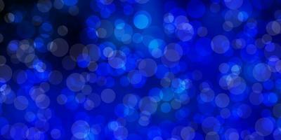 Fondo de vector azul oscuro con burbujas.