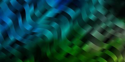 diseño de vector azul claro, verde con curvas.
