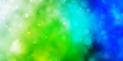 Light Blue, Green vector texture with circles.