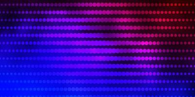 Dark Blue, Red vector backdrop with circles.