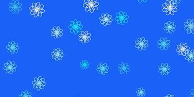 Light BLUE vector natural backdrop with flowers.