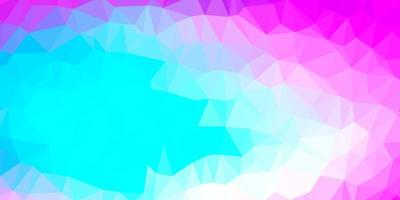 Light pink, blue vector poly triangle layout.