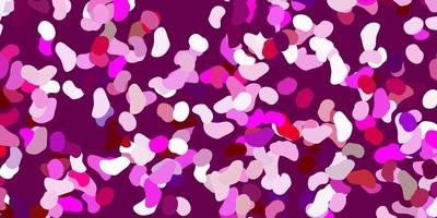 Telón de fondo de vector rosa claro con formas caóticas.