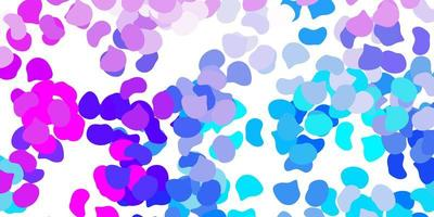 Light pink, blue vector texture with memphis shapes.