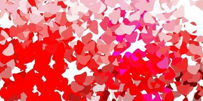 telón de fondo de vector rosa claro con formas caóticas