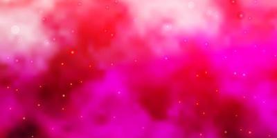 textura de vector de color rosa claro con hermosas estrellas.