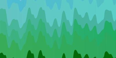 textura de vector azul claro, verde con arco circular.