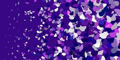 Fondo de vector violeta claro con formas aleatorias.