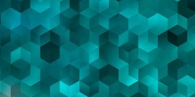 Light BLUE vector background with hexagons.