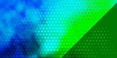 plantilla de vector multicolor oscuro con círculos.
