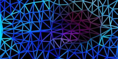 Dark pink, blue vector triangle mosaic background.
