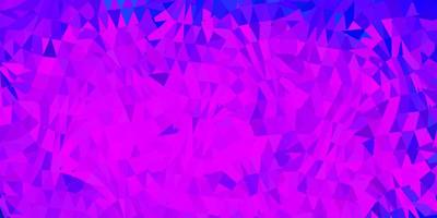 Dark pink, blue vector triangle mosaic background.