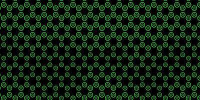 textura de vector verde oscuro con símbolos religiosos.