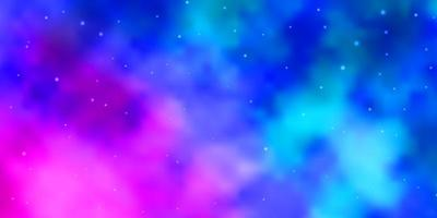 Light Pink, Blue vector background with small and big stars.