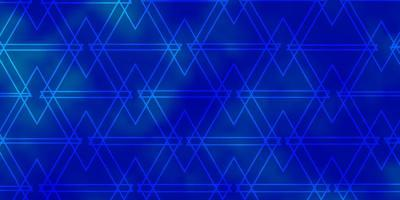 Light BLUE vector pattern with polygonal style.