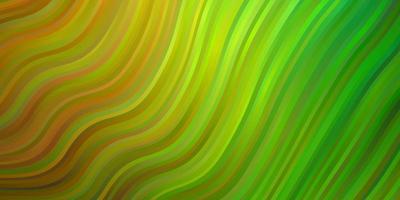 textura de vector verde claro, amarillo con arco circular.