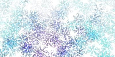 Light pink, blue vector abstract texture with leaves.