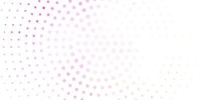 Fondo de vector rosa claro con estrellas de colores.