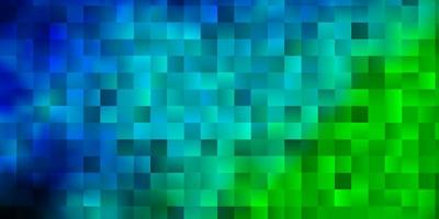 Light Blue, Green vector backdrop with rectangles.