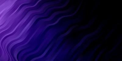 Dark Purple vector background with bent lines.